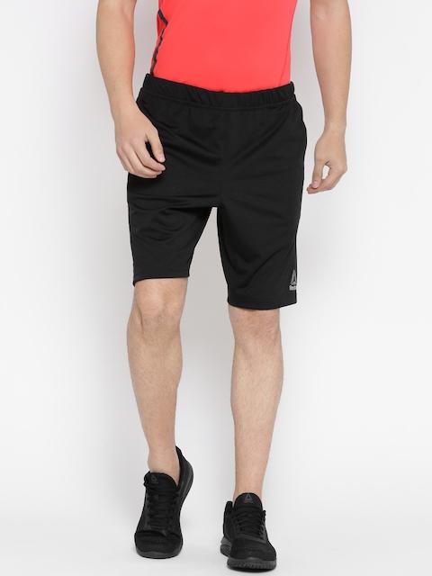 Reebok Men Black Speedwick Knit Sports Shorts