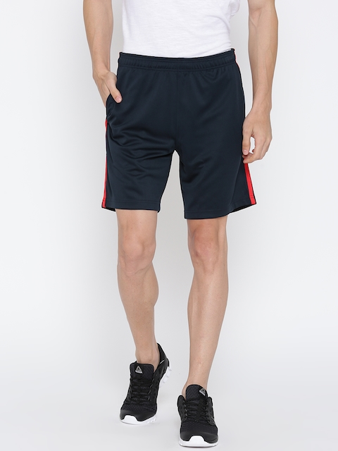 Reebok Men Navy Core Poly Knit Solid Training Shorts  available at myntra for Rs.539