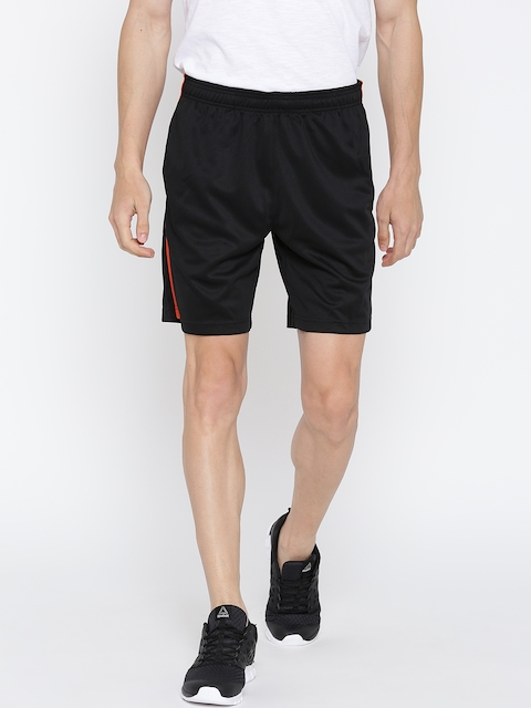 Reebok Men Black Core Poly Knit Solid Training Shorts  available at myntra for Rs.629