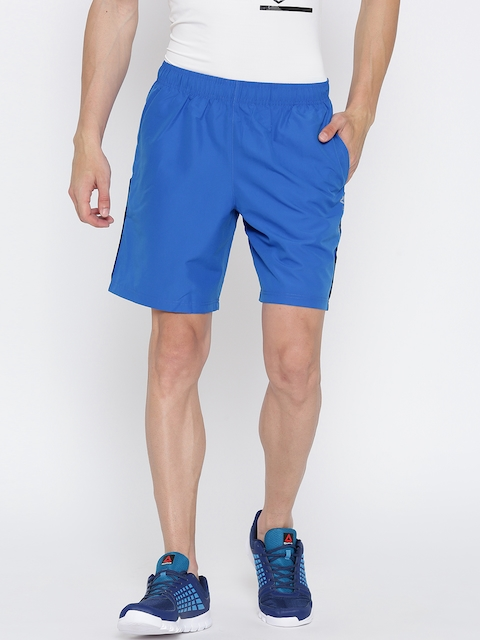 Reebok Men Blue Core Woven Solid Training Shorts  available at myntra for Rs.599