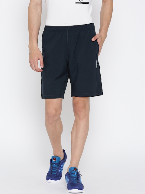 Reebok Men Navy EL SFT Solid Training Shorts  available at myntra for Rs.659
