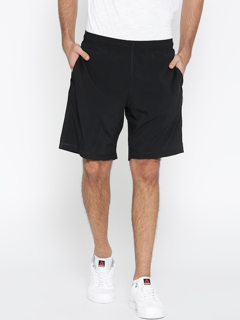 Reebok Men Black EL SFT Solid Training Shorts  available at myntra for Rs.549