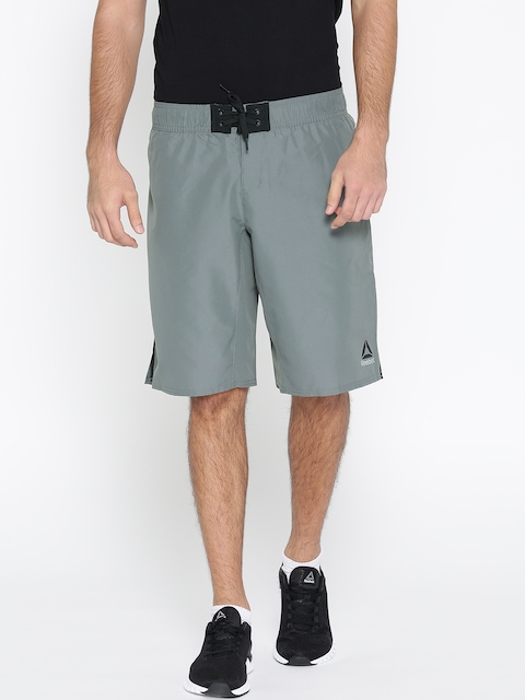 Reebok Men Grey WOR Board Solid Training Shorts  available at myntra for Rs.749