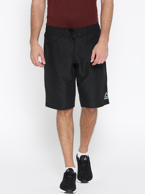 Reebok Men Black Solid WOR Board Training Shorts  available at myntra for Rs.749
