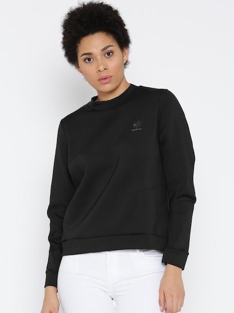 Reebok Classic Women Black DC TECH Solid Sweatshirt