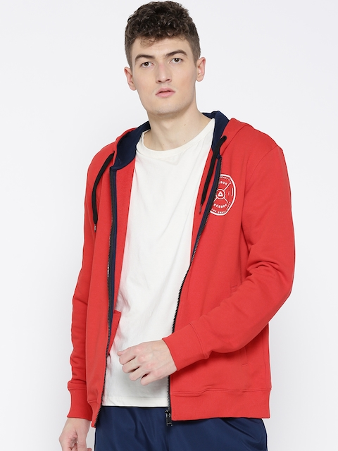 Reebok Men Red Essential Hooded Sweatshirt