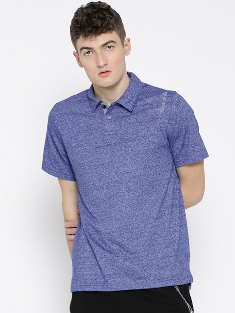 Reebok Men Blue MS CO Polo Collar T-shirt  available at myntra for Rs.659