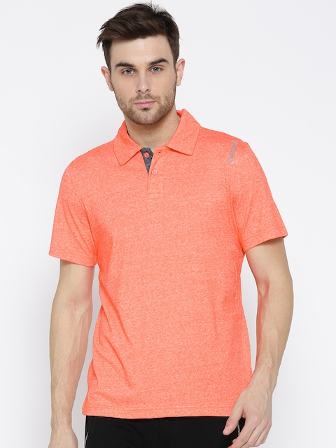Reebok Men Orange MS CO 1 Solid Polo Collar Training T-shirt  available at myntra for Rs.659