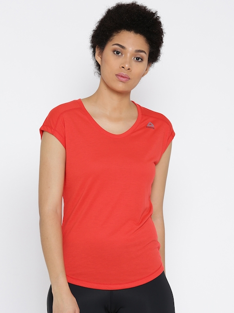 Reebok Women Red WOR SUPREMIUM 2.0 Round Neck Training T-shirt