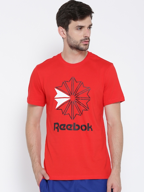 Reebok Classic Men Red F GR Printed Round Neck T-shirt