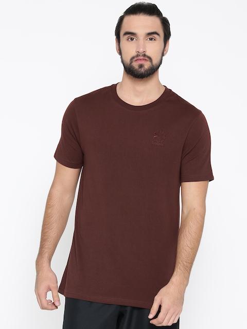 Reebok Classic Men Burgundy F Franchise STARCREST Solid Round Neck T-shirt