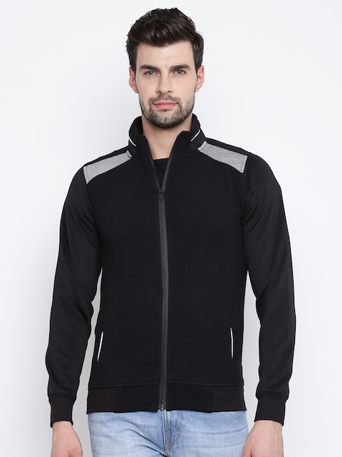 Fort Collins Men Black Solid Sweatshirt