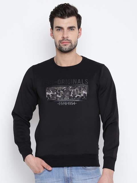 Fort Collins Men Black Printed Sweatshirt