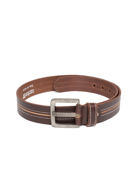SPYKAR Men Brown Genuine Leather Belt