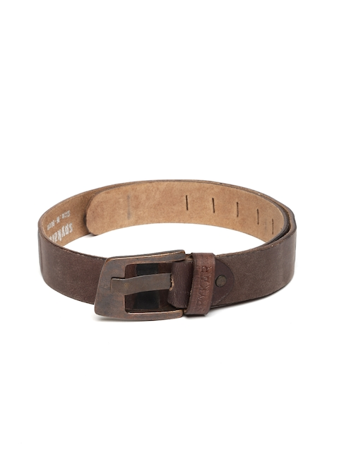 SPYKAR Men Brown Leather Belt