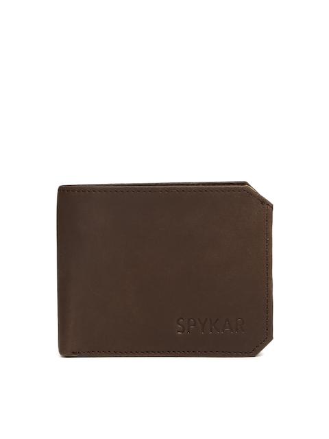 SPYKAR Men Brown Solid Two Fold Wallet