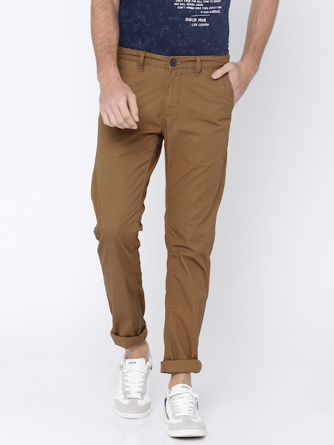 Solly Jeans Co. Men Brown Trenim Fit Printed Chinos