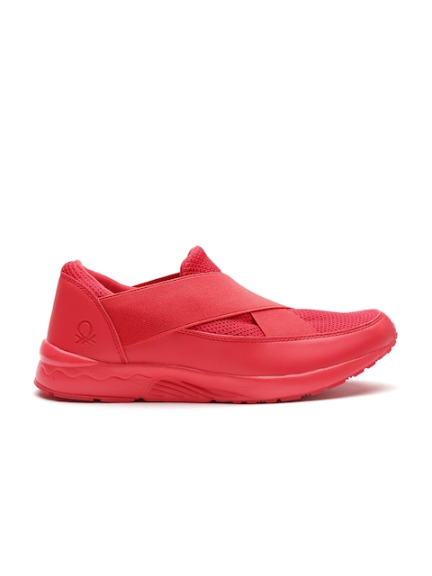 United Colors of Benetton Men Red Slip-Ons