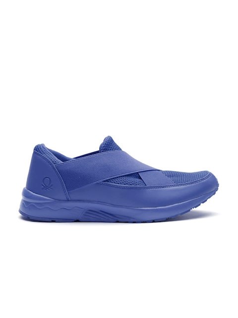 United Colors of Benetton Men Blue Slip-Ons