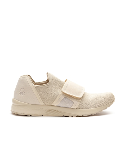 United Colors of Benetton Men Beige Slip-Ons