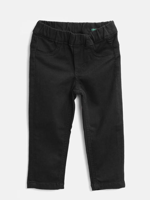 United Colors of Benetton Girls Black Jeggings