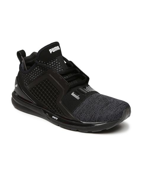 Puma Men Black IGNITE Limitless Mid-Top Sneakers