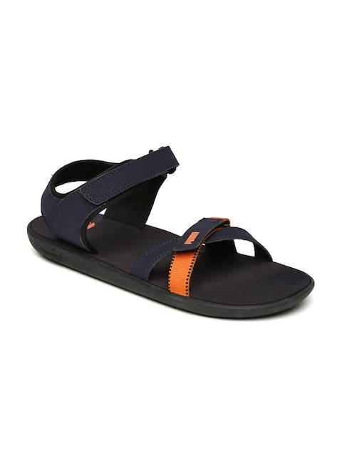 Puma Unisex Navy & Orange Pebble Sports Sandals