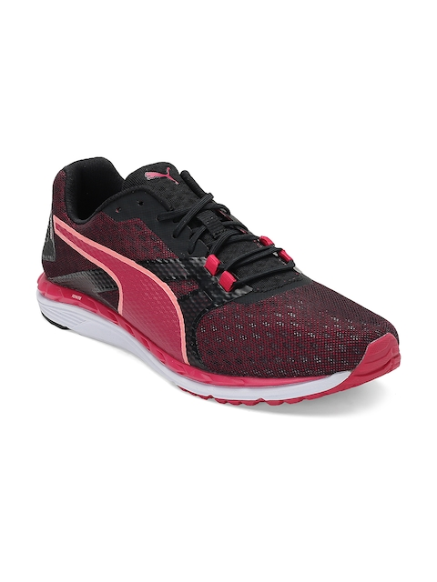 Puma Women Black & Pink Speed 300 IGNITE 2 Wn Running Shoes