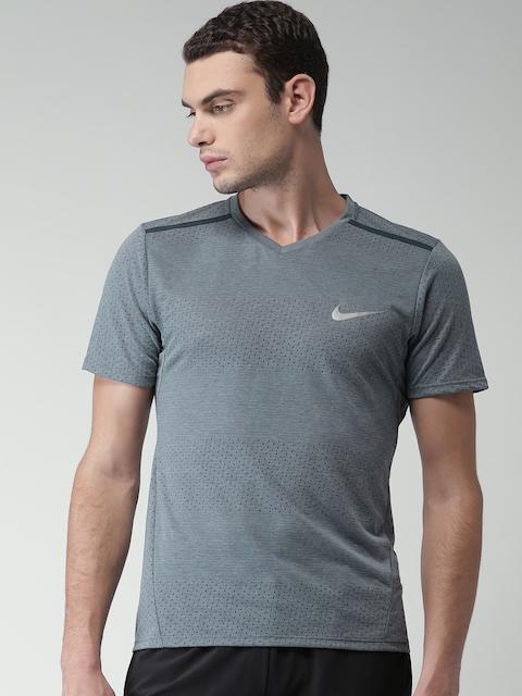 Nike Men Grey Melange AS M NK BRTHE TOP SS TAILWIND Running T-shirt