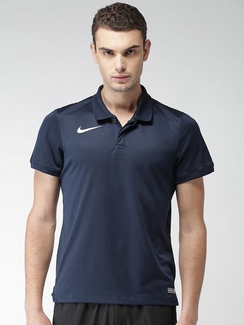 Nike Men Navy Blue Solid Polo CRKT GAME POLO T-shirt