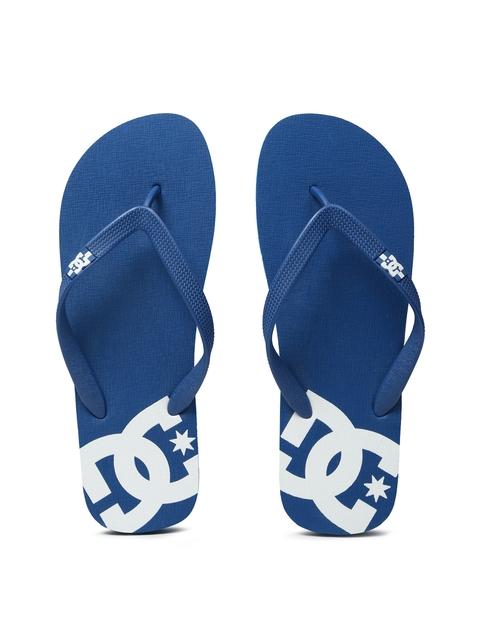DC Men Blue Printed SPRAY Flip-Flops