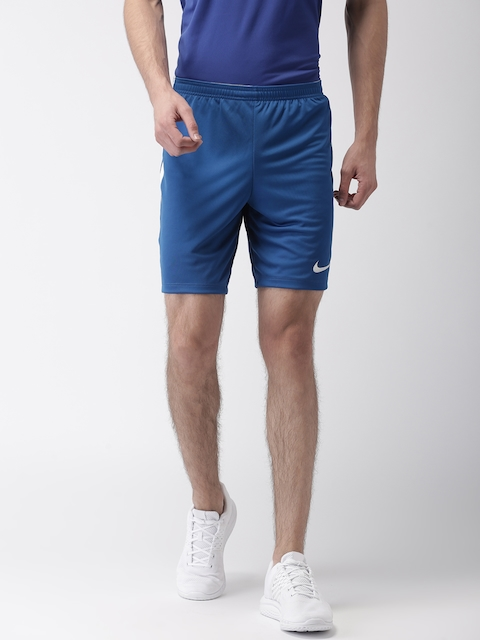 Nike Men Blue AS M NK Solid Regular Fit Sports Shorts  available at myntra for Rs.841