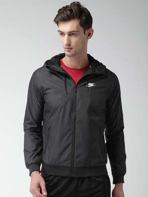 Nike Men Black Solid Sporty Jacket