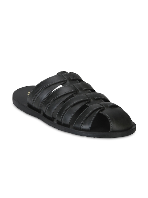 Bond Street by Red Tape Men Black Slip-On Sandals