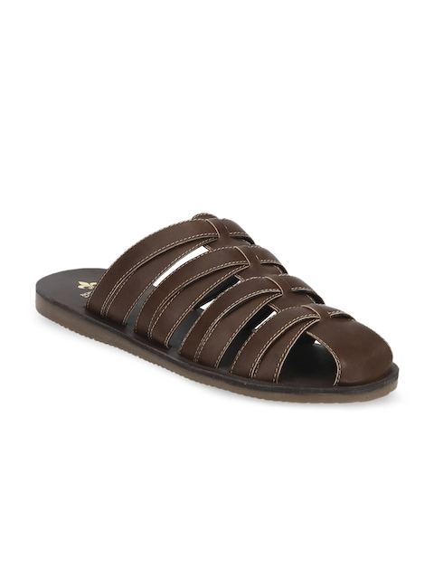 Bond Street By Red Tape Men Brown Comfort Sandals
