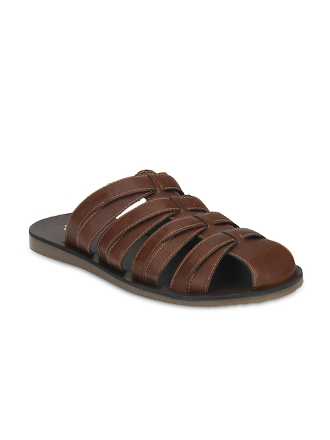 Bond Street Men Brown Slip-On Sandals
