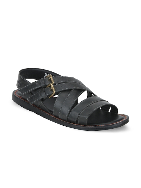Bond Street By Red Tape Men Black Comfort Sandals