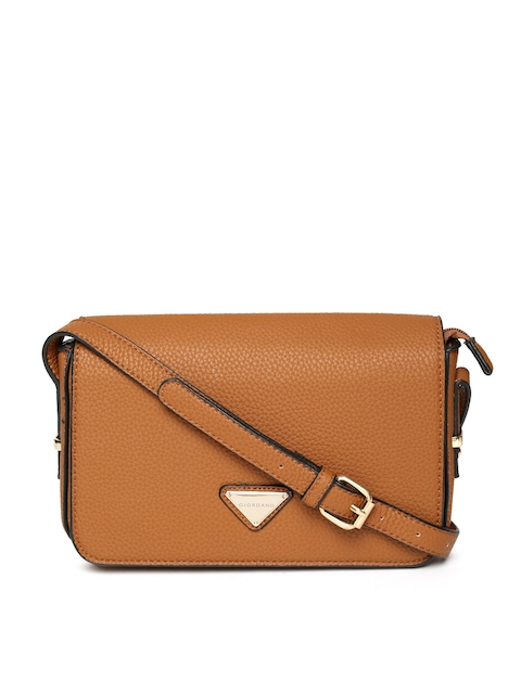 GIORDANO Tan Brown Solid Sling Bag  available at myntra for Rs.1122
