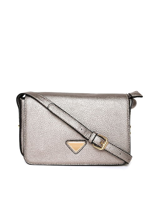 GIORDANO Gunmetal-Toned Solid Sling Bag  available at myntra for Rs.1347