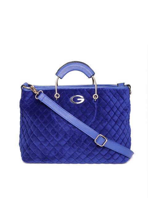 GIORDANO Blue Quilted Handheld Bag  available at myntra for Rs.1606