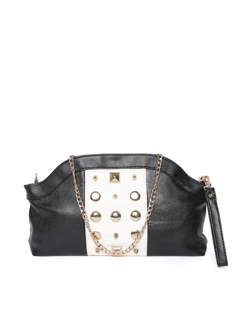 GIORDANO Black & White Embellished Sling Bag  available at myntra for Rs.1697