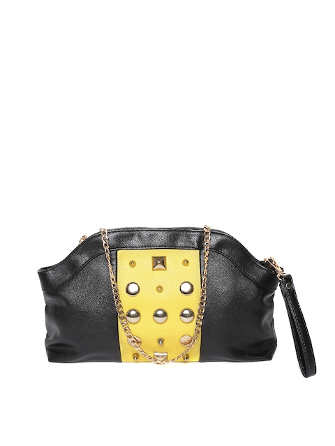 GIORDANO Black & Yellow Embellished Sling Bag  available at myntra for Rs.1697