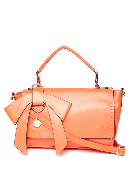 GIORDANO Orange Solid Satchel Bag  available at myntra for Rs.1455