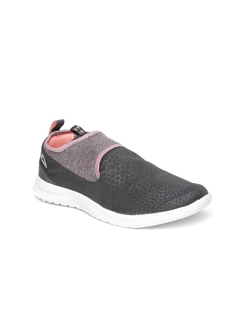 Reebok Women Charcoal Grey DMX LITE SLIP Walking Shoes