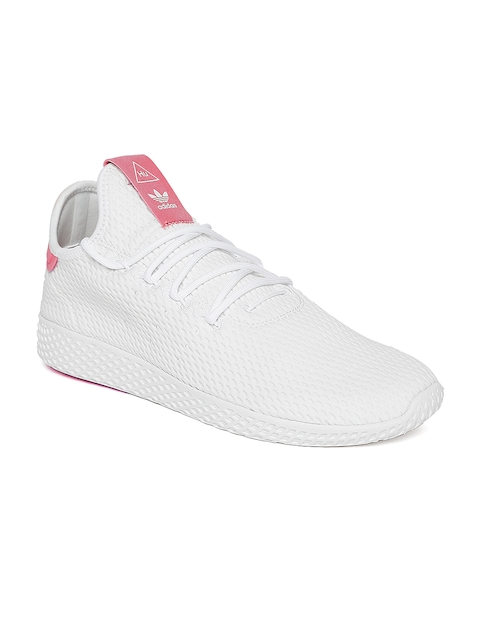 Adidas Originals Men White PW HU Tennis Shoes