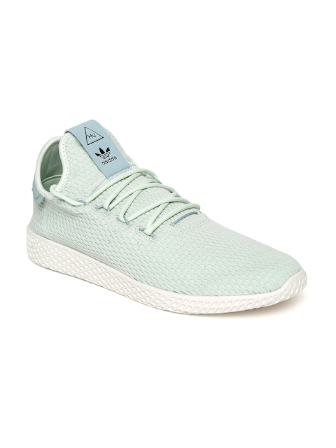 Adidas Originals Men Mint Green Tennis HU Shoes