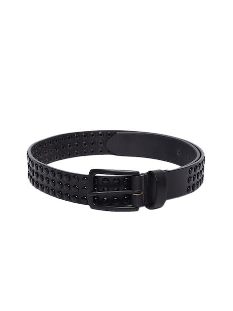 Being Human Men Black Textured Belt