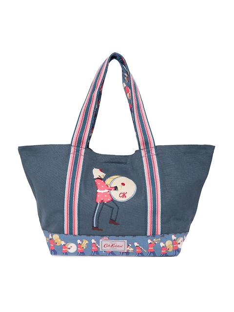 Cath Kidston Blue Embroidered Tote Bag