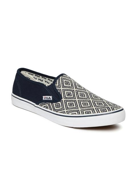 FILA Men Navy Blue BENITO Slip-on Sneakers