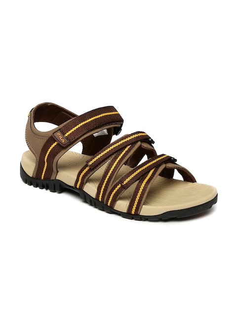 FILA Men Brown GABOR III Sports Sandals  available at myntra for Rs.839